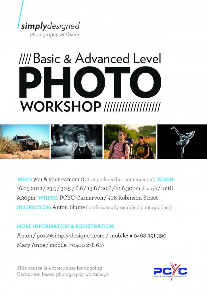"""Learn to see"" Photography Workshop in Carnarvon"